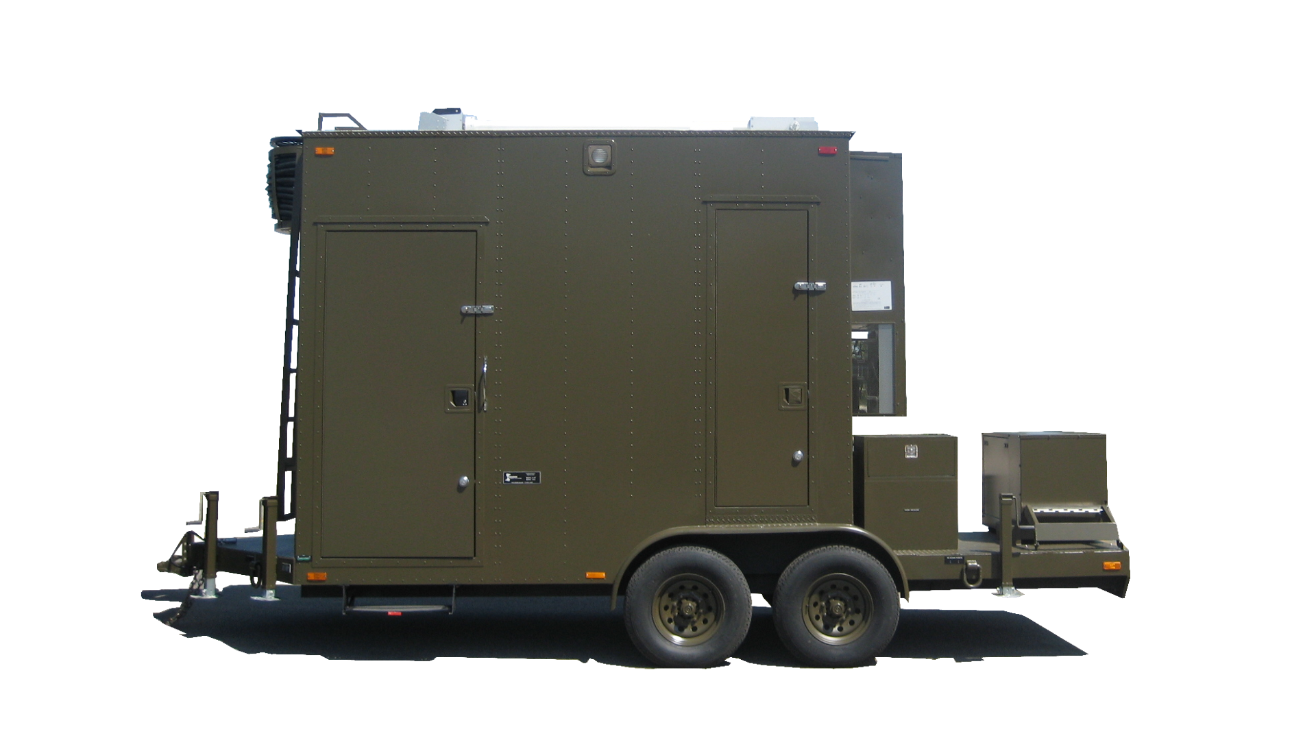 Compact command trailer
