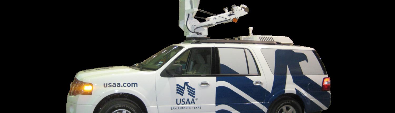 Satellite up-link vehicle