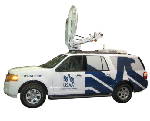 Satellite up-link vehicle