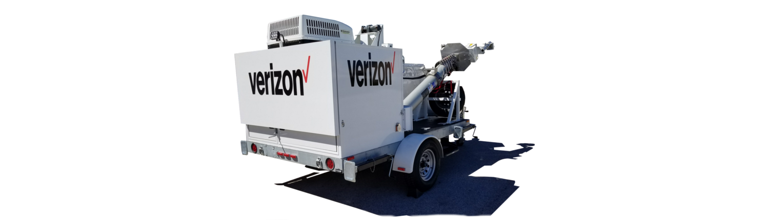 Mobile Specialty Trailer - Verizon Wireless Cell Repeater on