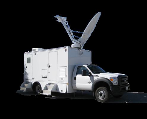 Satellite up-link truck